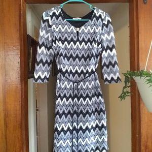 Sandra Darren Chevron Dress